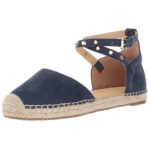 87d2919d7d6 Marc Fisher Womens Maci Leather Closed Toe Ankle Strap Espadrille Flats