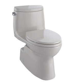 Toto MS614114CEFG Carlyle II One Piece Elongated 1.28 GPF Toilet with Double Cyclone Flush System - Seat Included