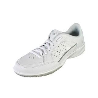 Easy Spirit Train Free Women Round Toe Leather White Sneakers
