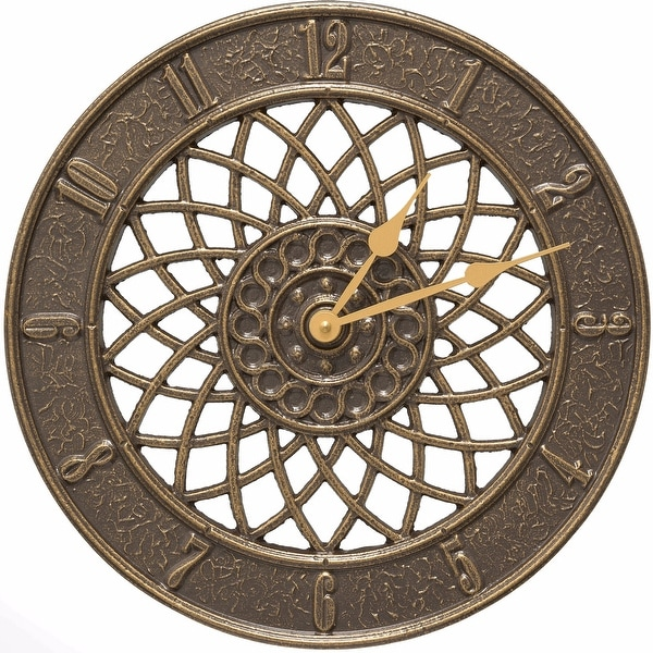 Whitehall Spiral 14 In Indoor Outdoor Wall Clock French Bronze