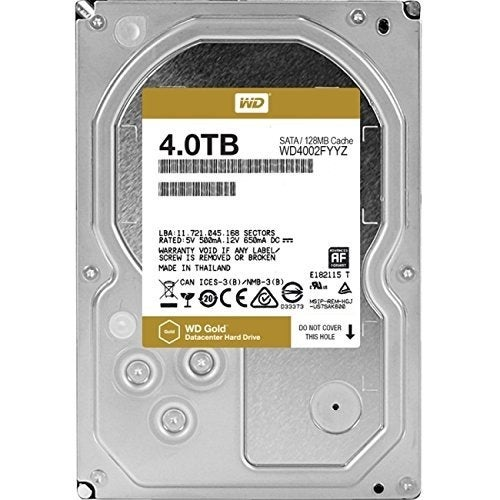 "Western Digital Gold Wd4002fyyz 4Tb 3.5"" Enterprise Class Internal Hard Drive With 7200 Rpm Sata 6Gb/S 128Mb Cache"