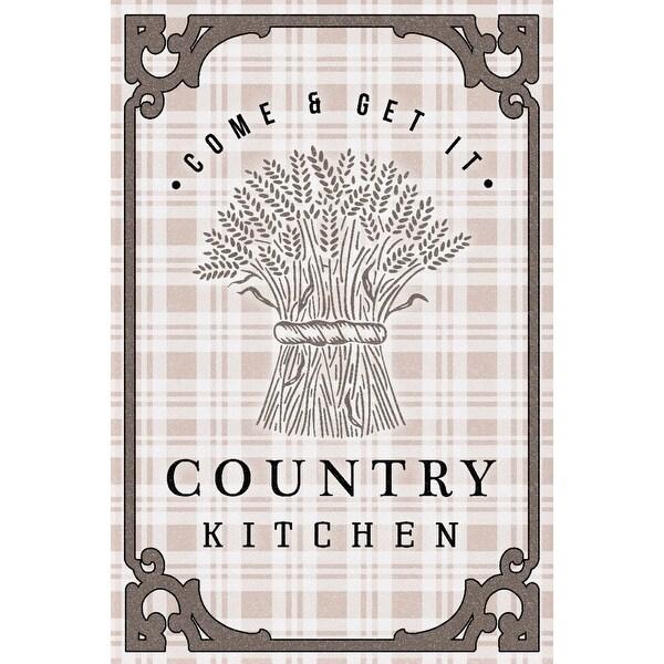 Shop Country Kitchen Wheat Bundle On Plaid Lantern Press Artwork