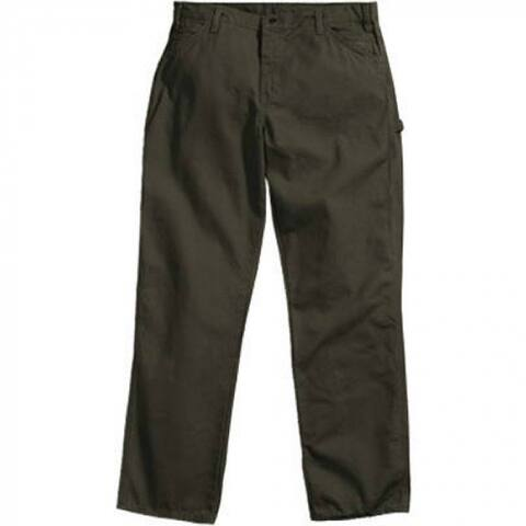 """Dickies 1939RMS3430 Men's Relaxed Fit Carpenter Duck Jeans, 34""""x30"""", Moss Green"""
