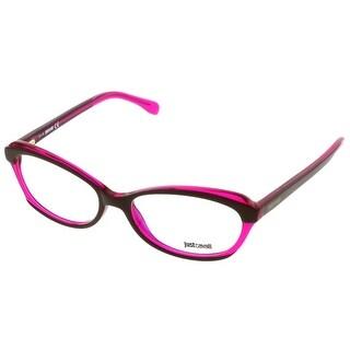 Just Cavalli JC0460/V 050 Brown & Fuchsia Rectangle Optical Frames