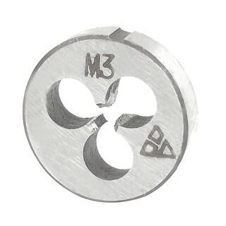Unique Bargains Steel 20mm Outside Dia Metric M3 Screw Thread Round Die Tool