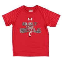 Under Armour Boys Cincinnati Bearcats College Short Sleeve Tech T Shirt Red - Red/Grey/White - M