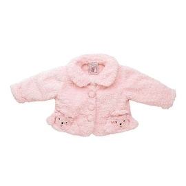 Fuzzy Wear Girls Pink Poodle Jacket, 12 - 18 months