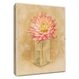 "PTM Images 9-154588  PTM Canvas Collection 10"" x 8"" - ""Dahlia Blossom in Glass"" Giclee Dahlias Art Print on Canvas"