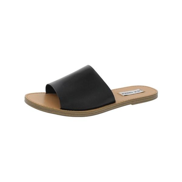 Steve Madden Womens Graced Slide Sandals Open Toe Stacked Heel