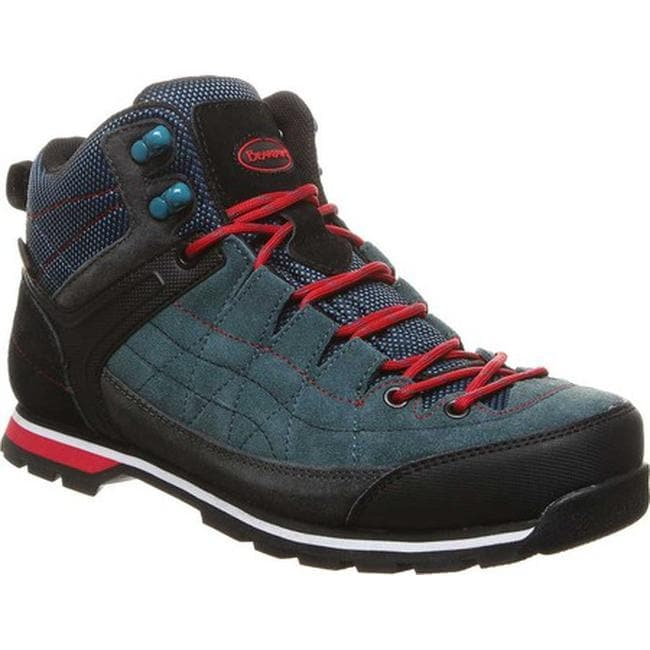 03e81107856 Bearpaw Men's Yosemite Solids Waterproof Hiking Boot Slate Blue Suede/Nylon