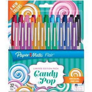 Assorted - Paper Mate Candy Pop Flair Ultra Fine Felt Top Pens 32/Pkg