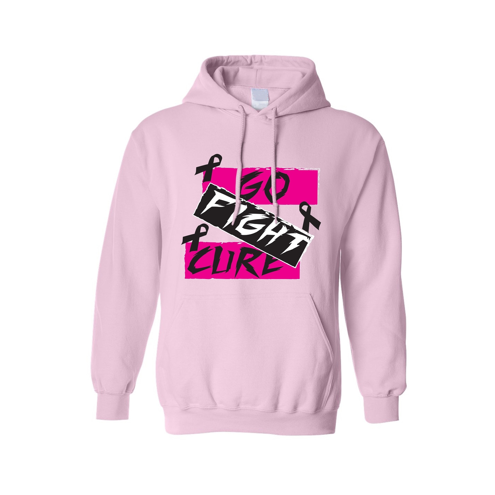 Love Fight Cancer Words Unisex Crewneck Breast Cancer Awareness Sweater