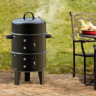 Vertical Charcoal Portable Smoker & Grill Smoker