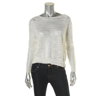 Joie Womens Pullover Top Linen Sheer - xs