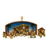 52-Piece Religious Christmas Nativity Village Set with Holy Family - multi