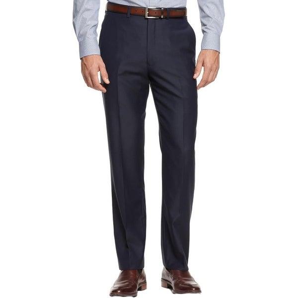 Ryan Seacrest Mens Dress Pants Wool Slim Fit
