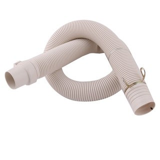 2.6Ft Length PVC Washing Machine Drain Discharge Hose Pipe Connector Beige