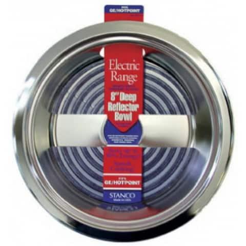 "Stanco 5011-8 Deep Reflector Bowl, Chrome Plated Steel, 8"""