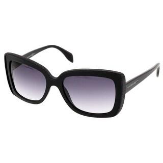Alexander McQueen AMQ 4218/S 807 Black Square Sunglasses
