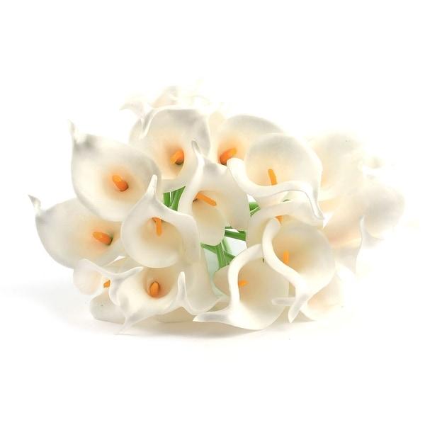20 Pcs Calla Lily Bridal Wedding Bouquets Party Decor Bouquet Latex Touch Artificial Flower