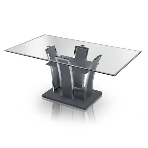Furniture of America Resk Contemporary 72-inch Metal Dining Table