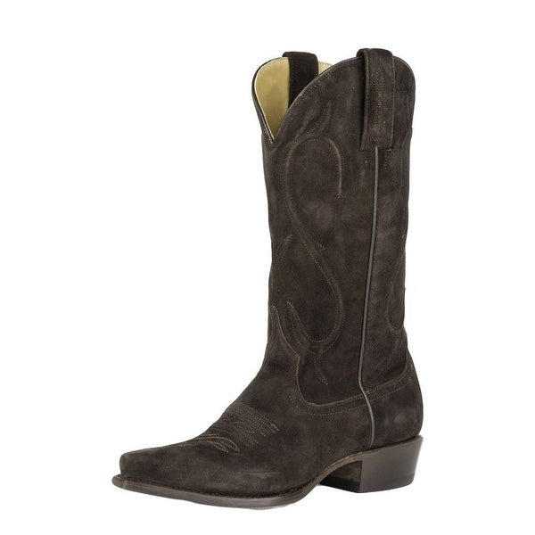 Stetson Western Boots Womens Corded Shaft Brown