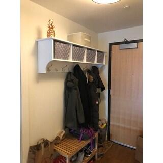 Shop Winslow White Hanging 60 Inch Wide Entryway Shelf