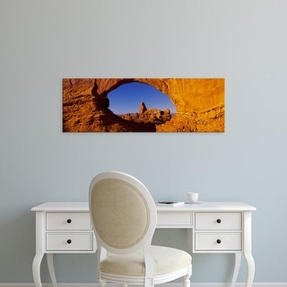 Easy Art Prints Panoramic Images's 'Natural arch on a landscape, Arches National Park, Utah, USA' Premium Canvas Art