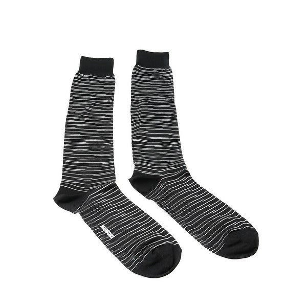 Missoni GM00CMU4949 0001 Black/White Knee Length Socks - L