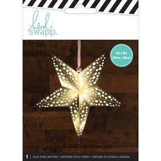 """Heidi Swapp 5-Point Star Paper Lantern 8""""X8""""-Gold"""