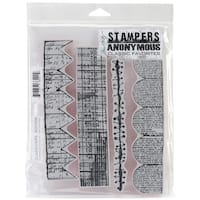"Stampers Anonymous Cling Stamps 7""X8.5""-Classics #6"