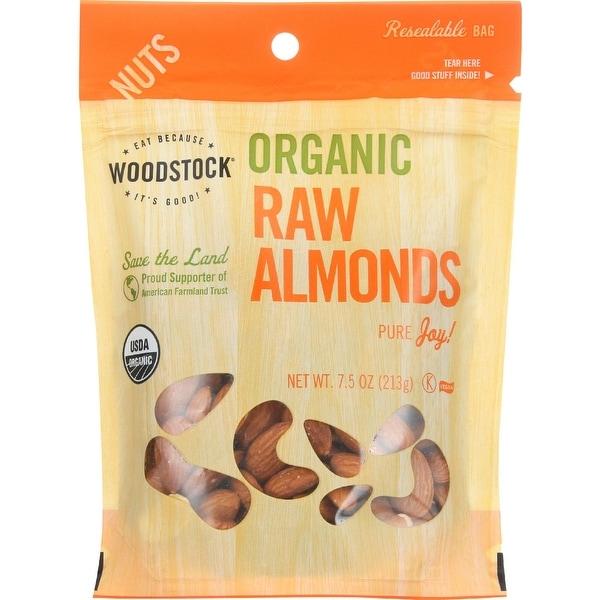 Woodstock Organic Almonds - Raw - Case of 8 - 7.5 oz.