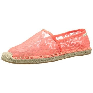 Groove Womens Fiona Lace Slip On Espadrilles