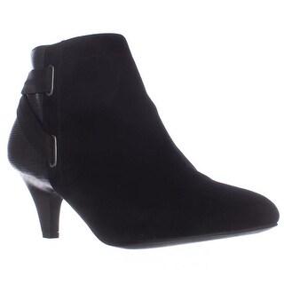 A35 Vandela2 Back Strap Ankle Booties - Black
