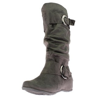 Journee Collection Womens Jester Mid-Calf Boots Polyester Buckled