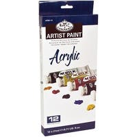 Acrylic Paints 12Ml 12/Pkg-Assorted Colors