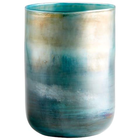 "Cyan Design 10011 Reina 6-1/4"" Diameter Glass Vase - Pyrite"