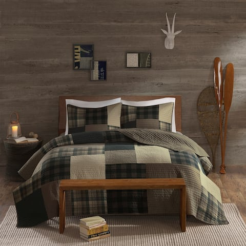 Woolrich Winter Hills Tan Oversized Cotton Quilt Set