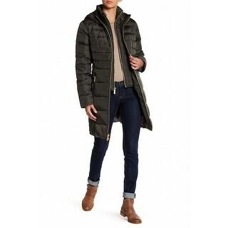 Michael Kors NEW Green Women's Size Medium M Quilted Down Puffer Coat