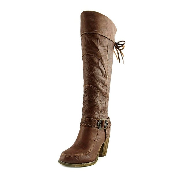 Sbicca Norfolk Women Round Toe Leather Knee High Boot