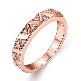 Rose Gold Petite Horizontal Lined Ring