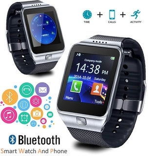 Indigi® Stylish GSM Wireless SmartWatch & Phone + SMS notification + Sleep/Step Monitor (iOS Android Compatible)
