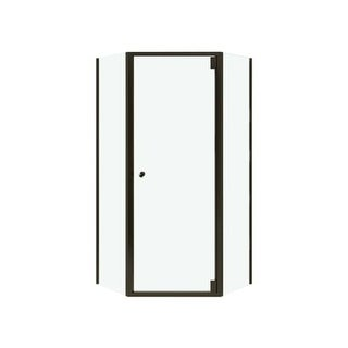 "Sterling SP2375-38 Solitaire 72-1/4"" Framed Pivot Neo Angle Shower Door with Clean Coat"