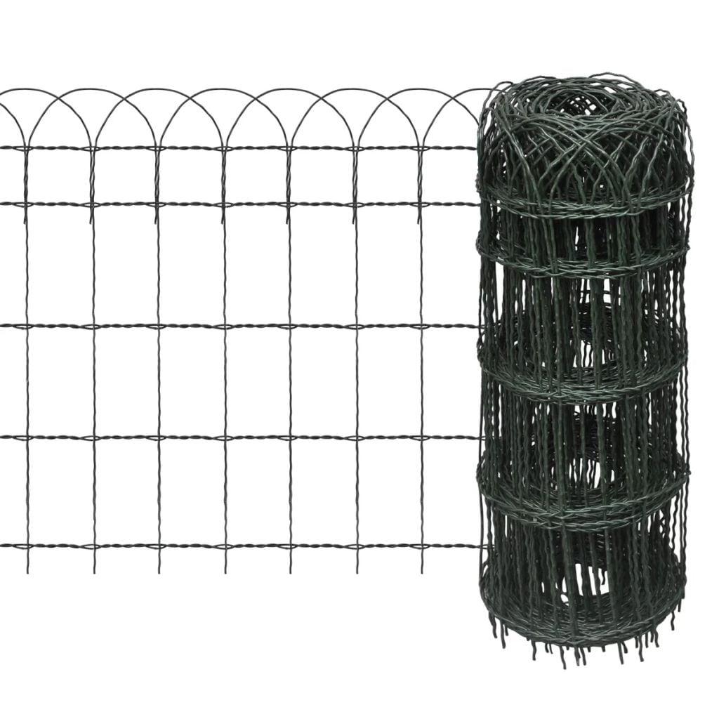 vidaXL Garden Border Fence Powder-coated Iron 984 3