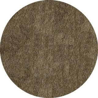 Momeni Luster Shag Light Taupe Hand-Tufted Shag Rug (4' X 4' Round) - 4' x 4' Round