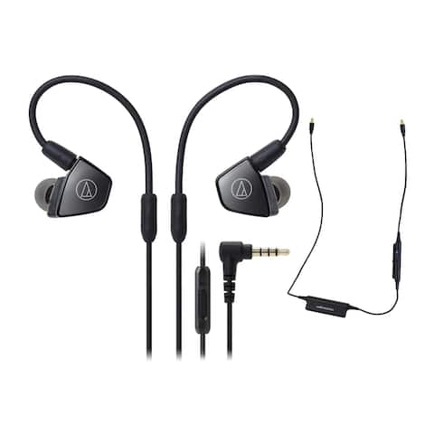 Audio-Technica ATH-LS300iS Headphones with In-Line Mic and Control