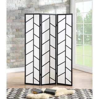 Costway 3 Panel Room Divider Folding Privacy Climbing Screen Wood Frame Black