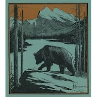 Nature Magazine Bear by a Cliff Vintage Cover (100% Cotton Towel Absorbent)