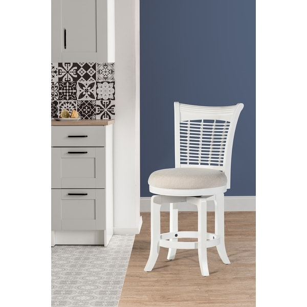 """Hillsdale Furniture Bayberry Swivel Counter Stool - 24""""W x 18""""L x 39.5""""H. Opens flyout."""