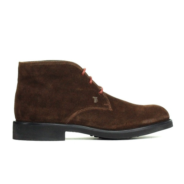 06aeda0d6f Shop Tod's Mens Burnt Brown Suede Chukka Desert Ankle Boots RTL$625 ...
